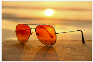 eye-wear,Sunglasses, and sun set